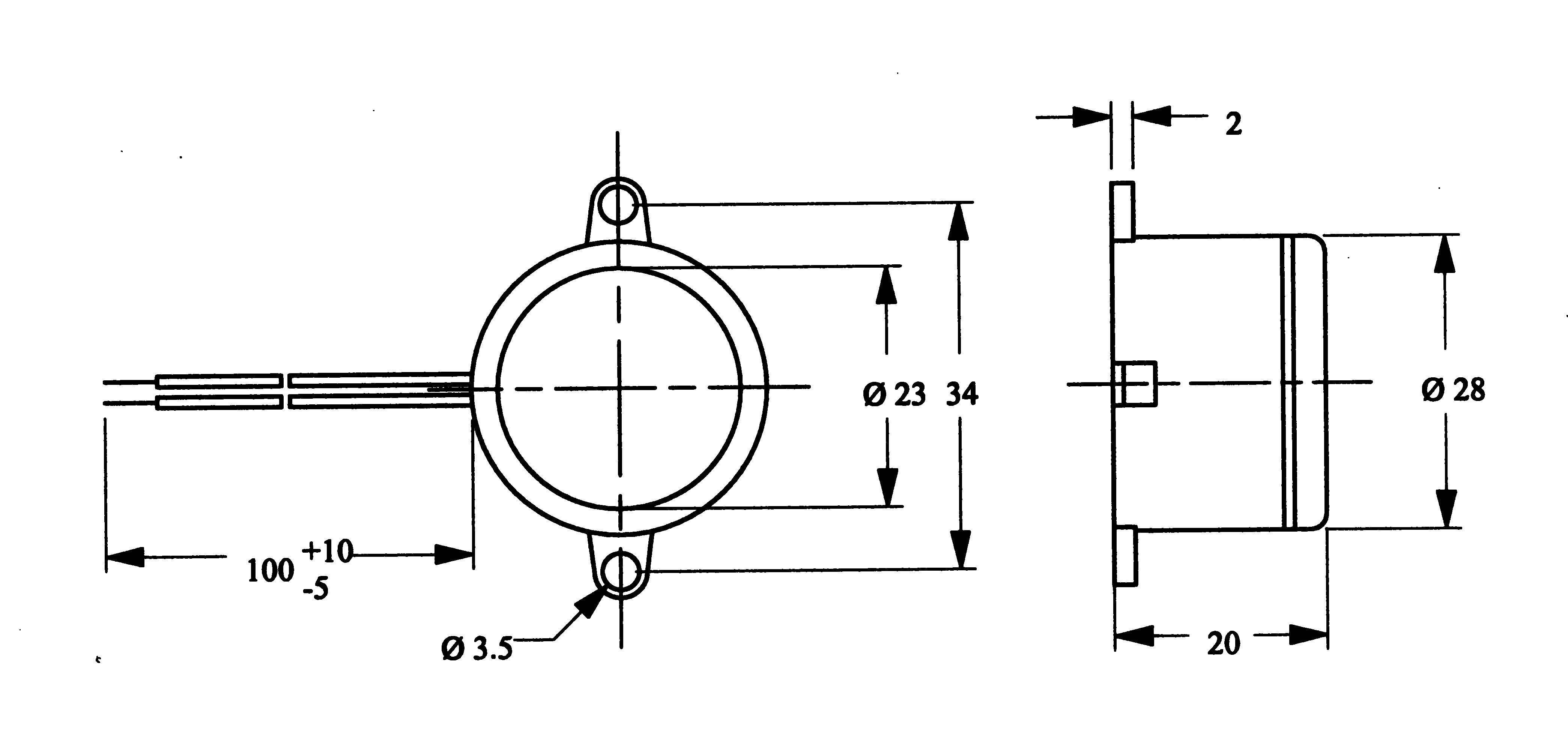 Miniaturní bzučák série AL-28SW
