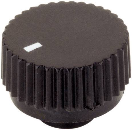 Otočný gombík 17/6, (Ø x v) 17 mm x 12 mm, čierna, 1 ks