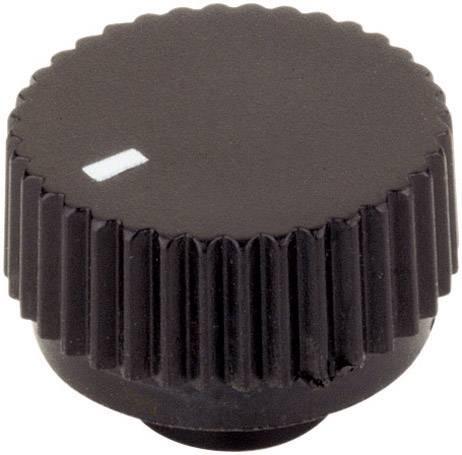 Otočný gombík TRU COMPONENTS 1588629, (Ø x v) 17 mm x 12 mm, čierna, 1 ks