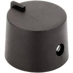 Otočný gombík #####mit Zeiger 4458.6317, (Ø x v) 17 mm x 14 mm, čierna, 1 ks