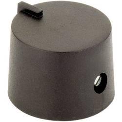 Otočný gombík #####mit Zeiger 44586321, (Ø x v) 21 mm x 14 mm, čierna, 1 ks