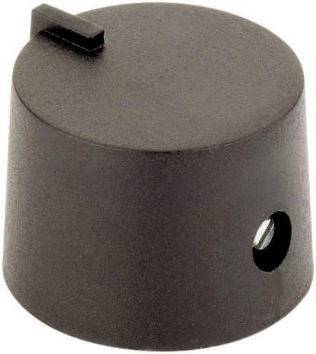 Otočný gombík 44586321, (Ø x v) 21 mm x 14 mm, čierna, 1 ks