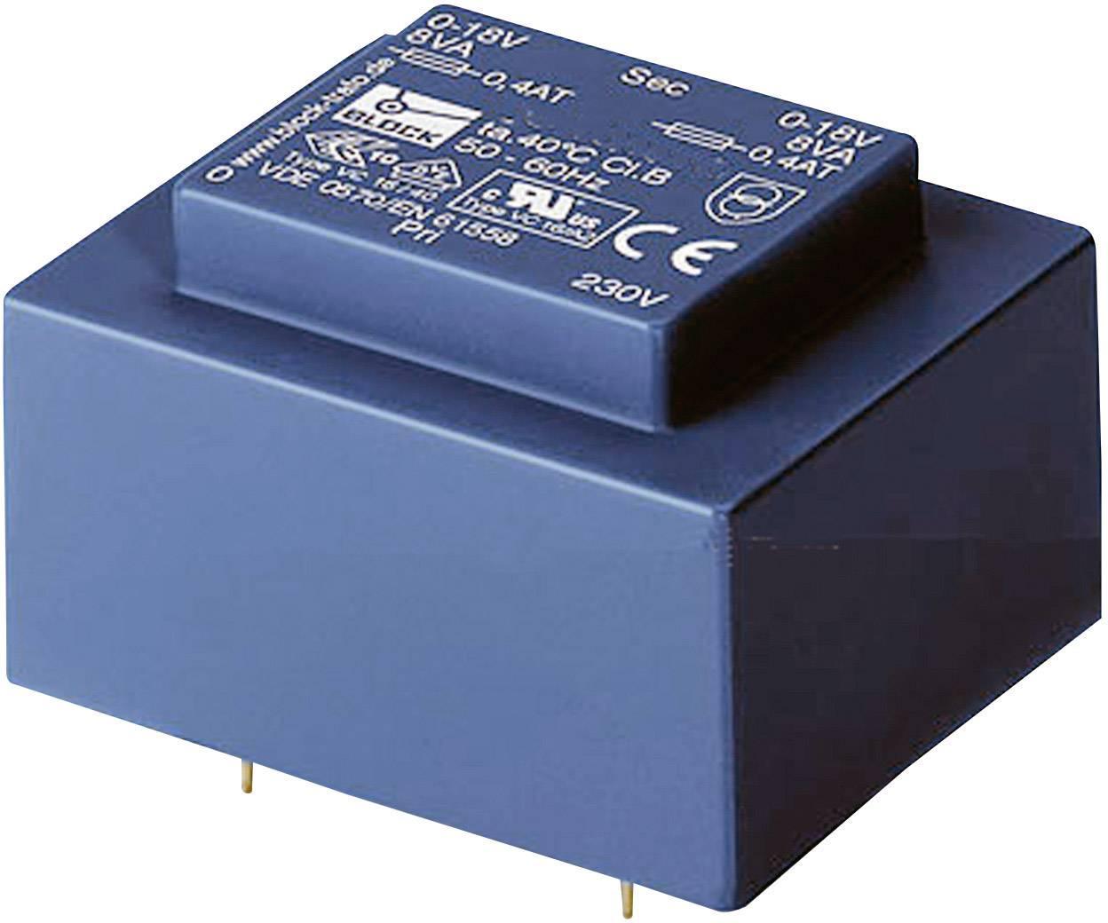 Transformátor do DPS Block VBEI 0,5/1/18, 0.50 VA