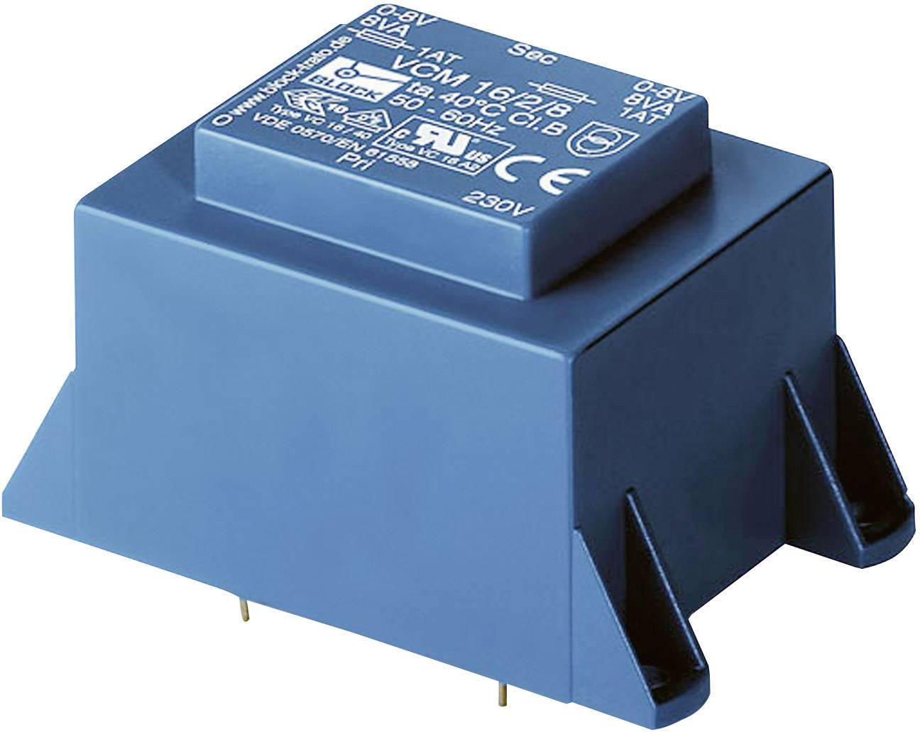 Transformátor do DPS Block EI 66/23, 230 V/2x 9 V, 2x 2 A, 36 VA