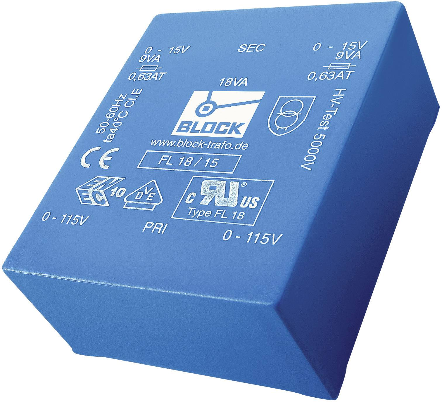 Transformátor do DPS Block FL 24/18, 24 VA