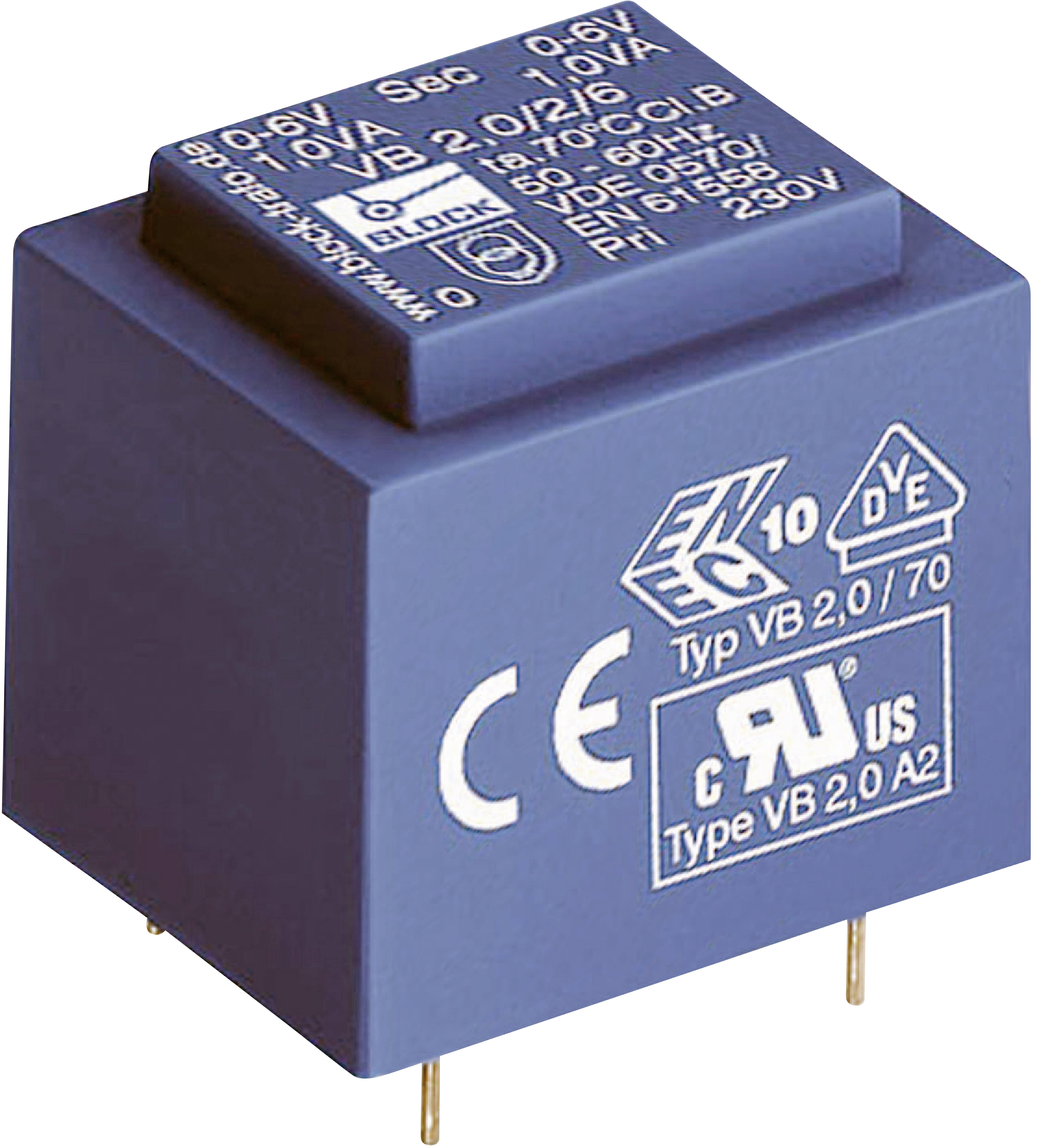 Transformátor do DPS Block VB 2,0/1/6, 2 VA