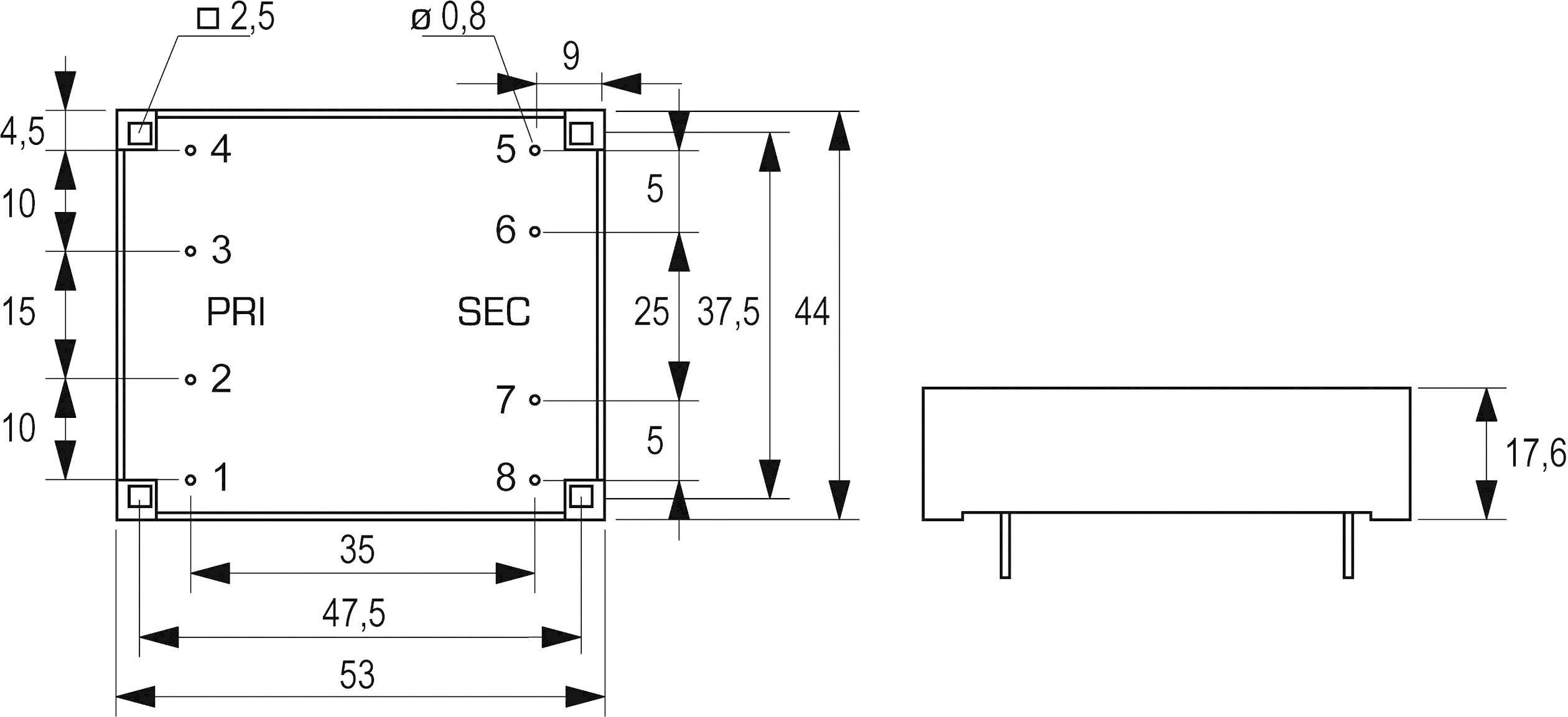 Transformátor do DPS Block FL 2/9, 2 VA