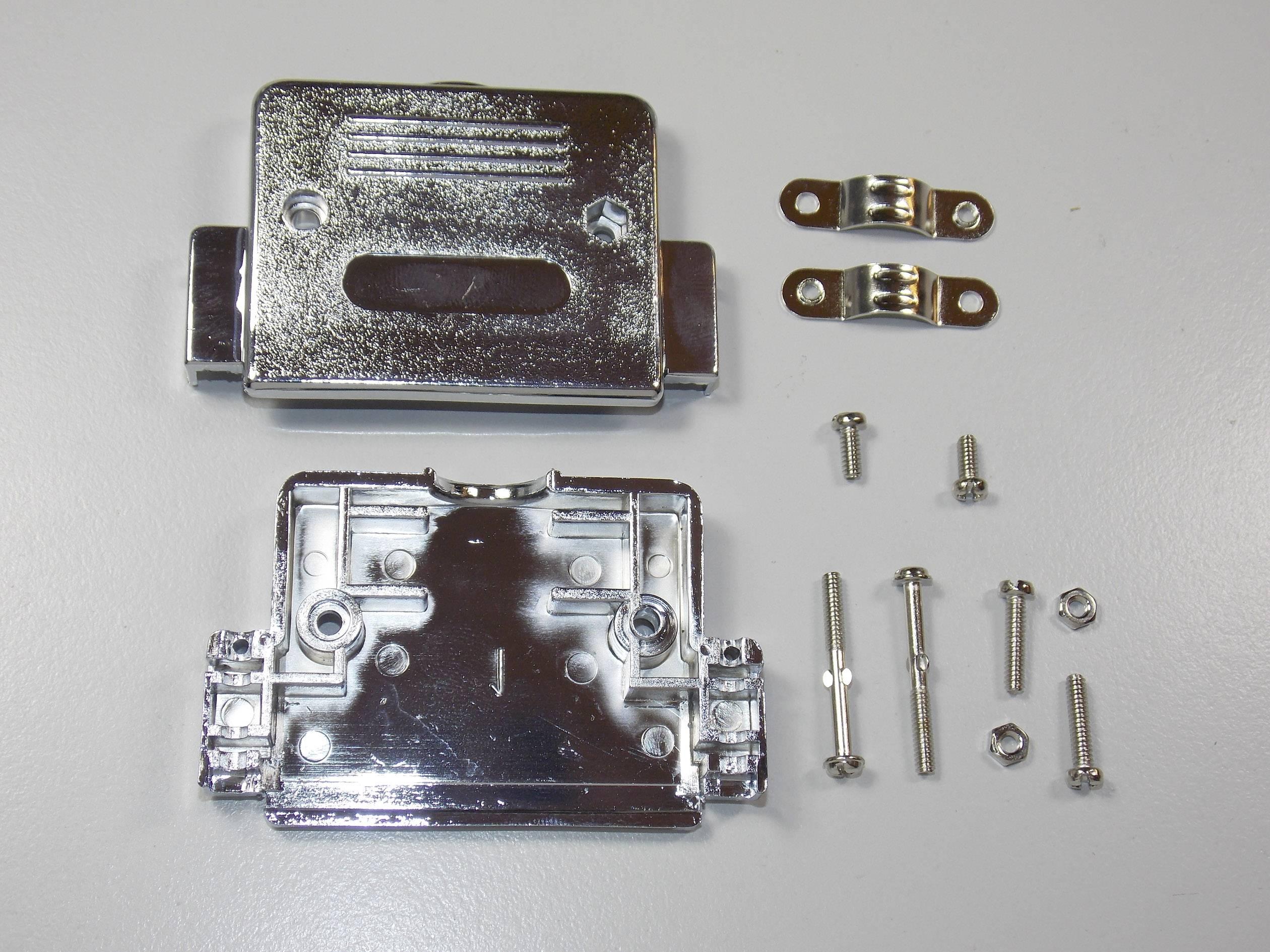 D-SUB púzdro BKL Electronic 10120227 10120227, počet pinov: 50, plast, pokovaný, 180 °, strieborná, 1 ks
