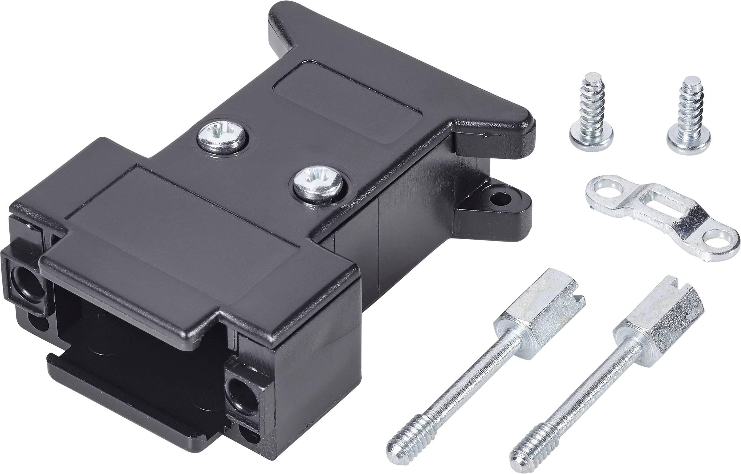 D-SUB púzdro počet pinov: 9, plast, 180 °, čierna, 1 ks