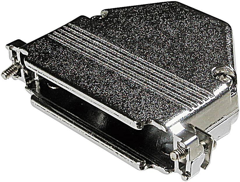 D-SUB púzdro ASSMANN WSW AGP 09 G-METALL AGP 09 G-METALL, počet pinov: 9, kov, 180 °, strieborná, 1 ks