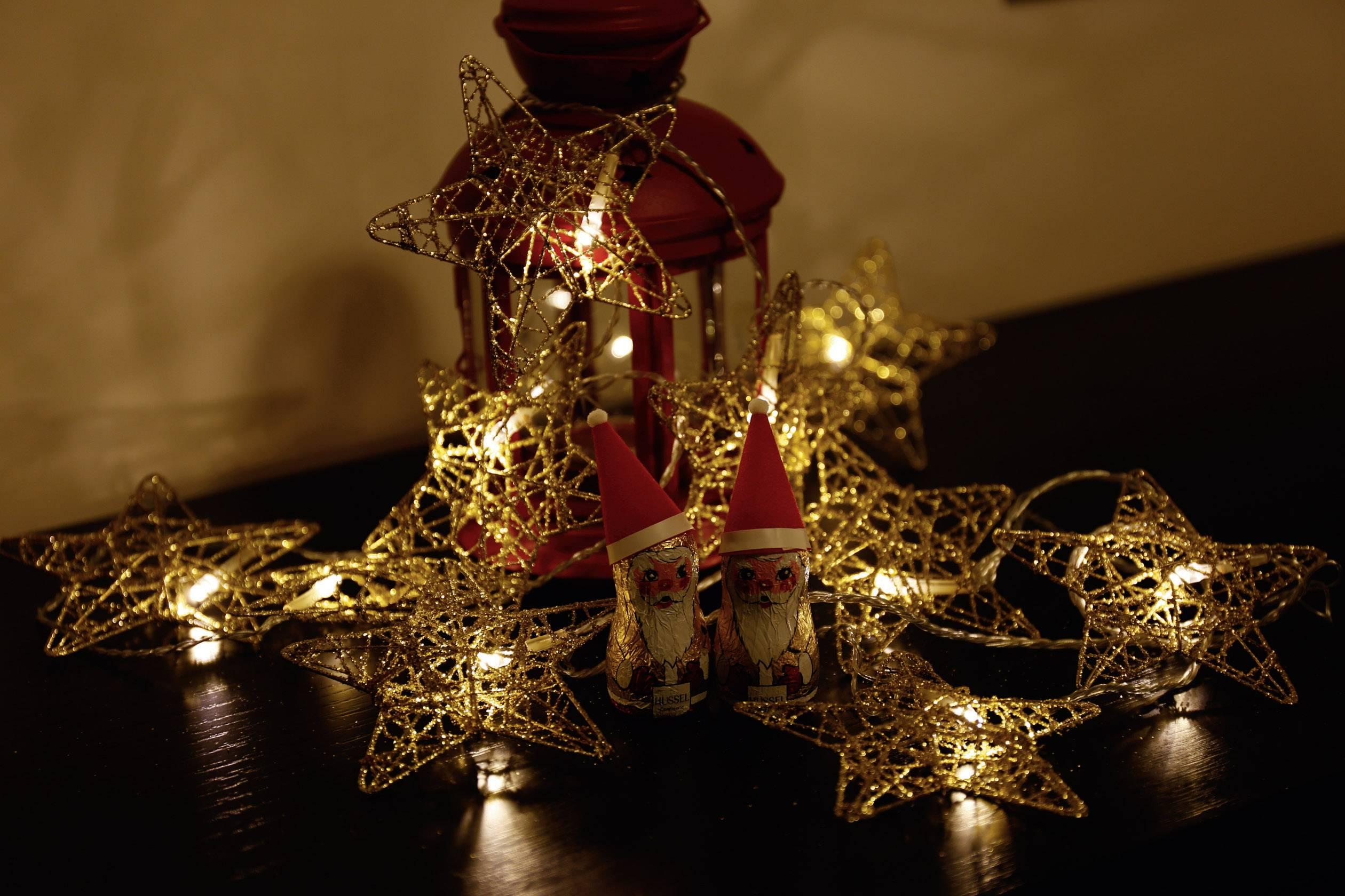 Vianočná reťaz Polarlite s hviezdami, 10 LED