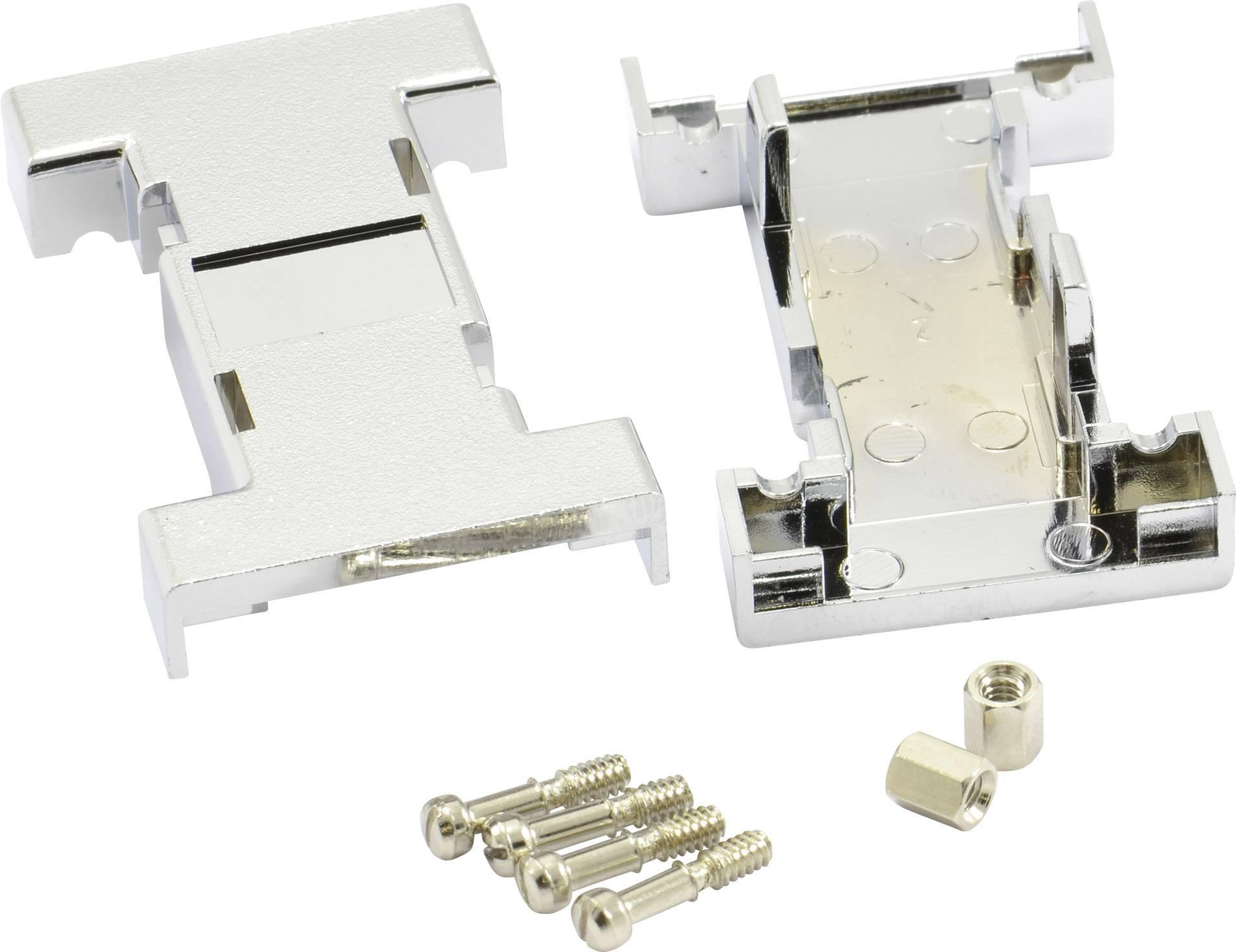 D-SUB púzdro adaptéra BKL Electronic počet pinov: 9, 9, plast, pokovaný, 180 °, strieborná, 1 ks