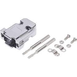 D-SUB púzdro BKL Electronic 10120069 10120069, Počet pinov: 15, plast, pokovaný, 180 °, strieborná, 1 ks