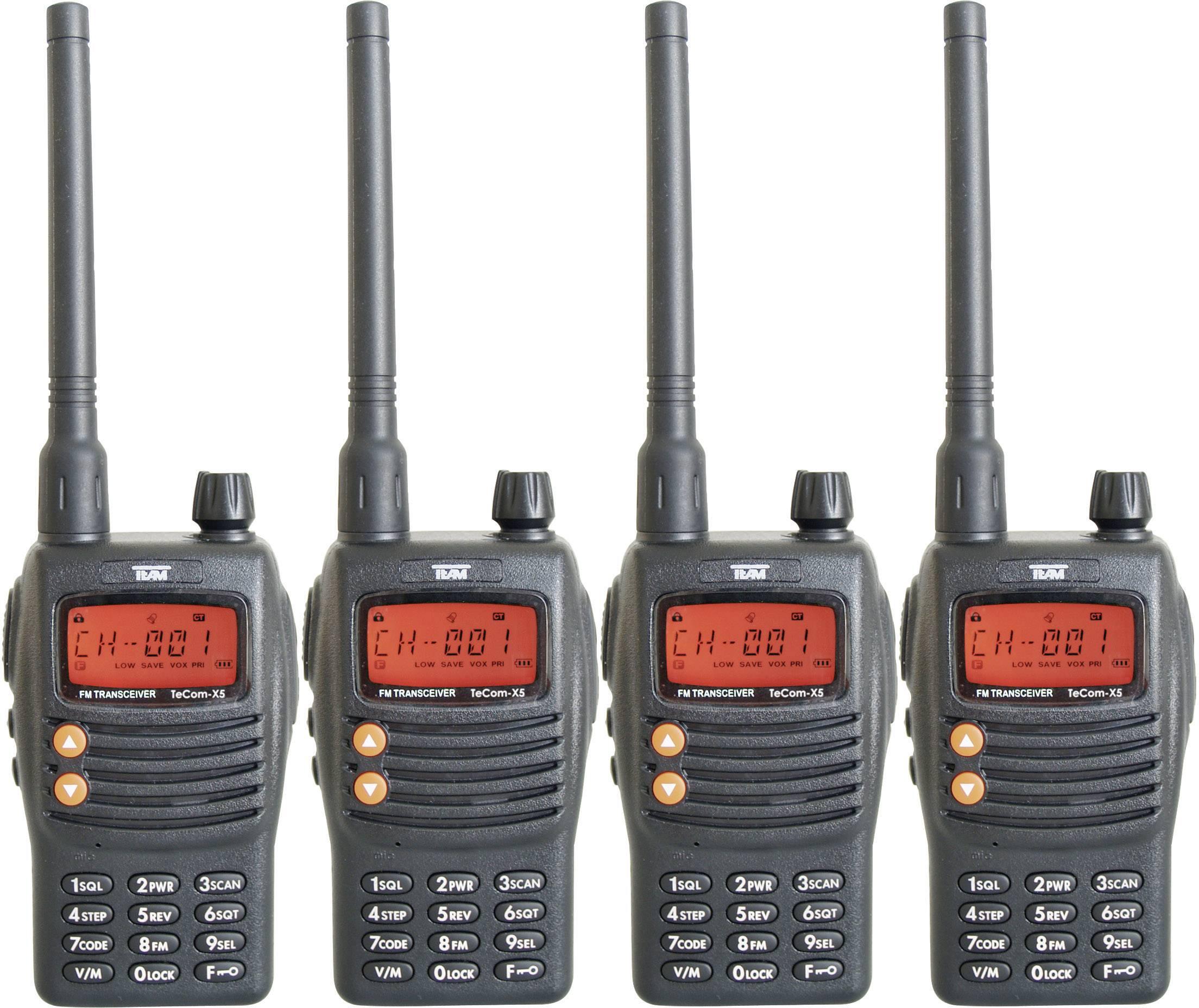 PMR rádiostanica/vysielačka Team Electronic TeCom-X5 PR8582, sada 4 ks