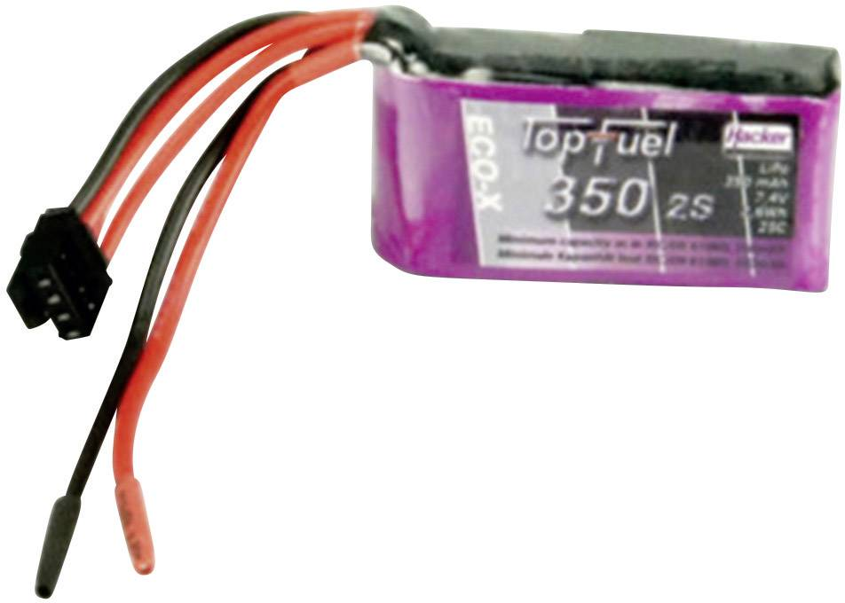 Akupak LiPol Hacker 25 C, bez konektora, 7.4 V, 350 mAh, 20350241