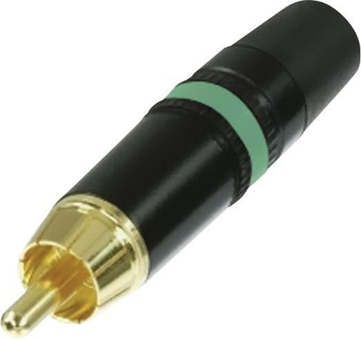 Cinch konektor zástrčka, rovná Rean AV NYS373-5, počet pinov: 2, čierna, zelená, 1 ks