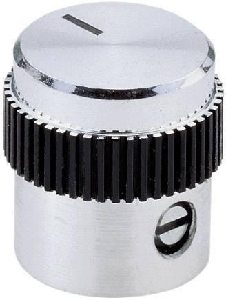 Hliníkový otočný knoflík s plastovým kroužkem Mentor 5617.6614, 6 mm, stříbrná