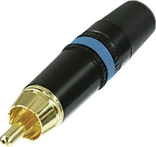 Cinch konektor zástrčka, rovná Rean AV NYS373-6, počet pinov: 2, čierna, modrá, 1 ks