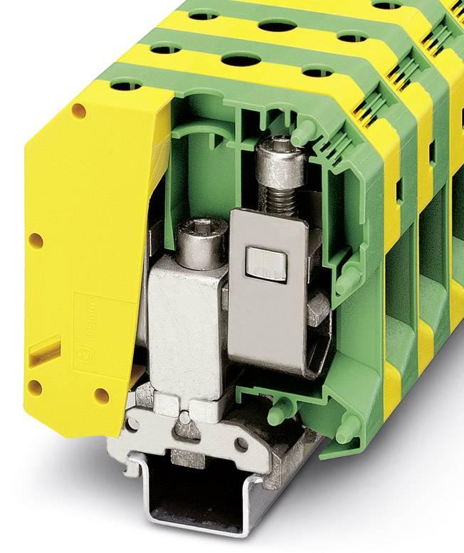 Trojitá svorka ochranného vodiče Phoenix Contact USLKG 95 B 3048195, 10 ks, zelenožlutá