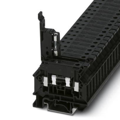 Jisticí řadová svorka Phoenix Contact UK 5-HESI N 3000539, 50 ks, černá