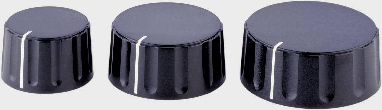 Otočný knoflík Alps 867000, 6 mm, černá