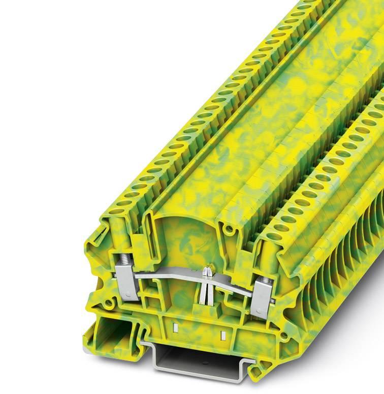 Trojitá svorka ochranného vodiče Phoenix Contact UTMED 4-PE 3047478, 50 ks, zelenožlutá