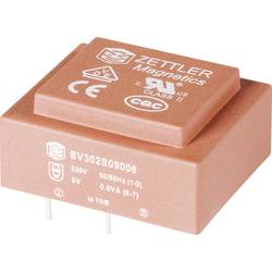 Transformátor do DPS Zettler Magnetics El30, 230 V/2x 15 V, 2x 20 mA, 1,5 VA