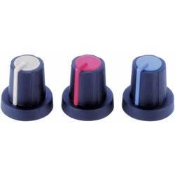 Otočný gombík #####mit Zeiger PB Fastener 3030398, (Ø x v) 16 mm x 16 mm, čierna, sivá, 1 ks