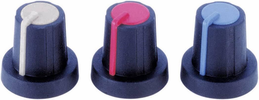 Otočný gombík PB Fastener 3030407, (Ø x v) 16 mm x 16 mm, čierna, červená, 1 ks