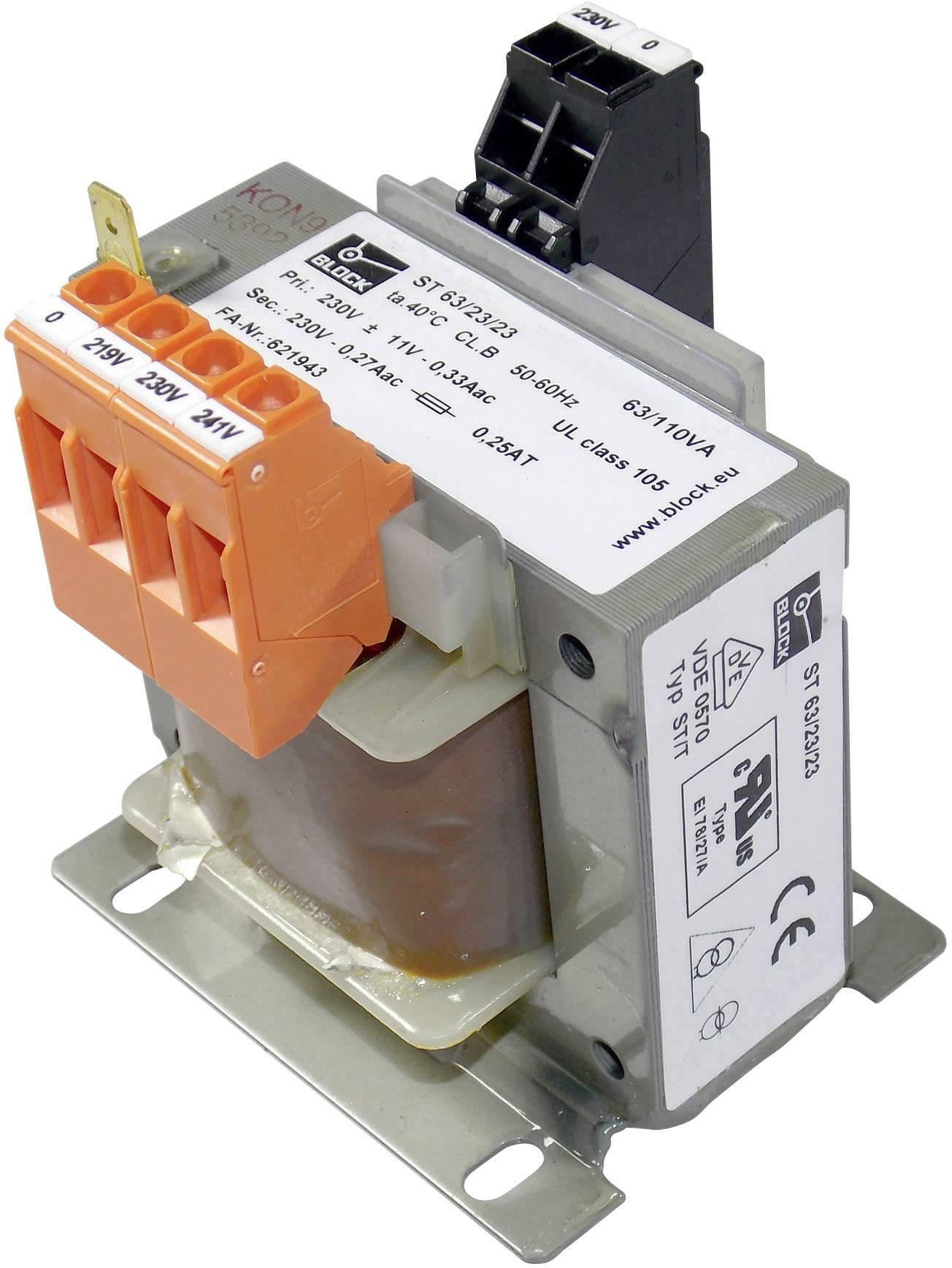 Transformátor Block ST 63/23/23, 230 V/230 V, 63 VA