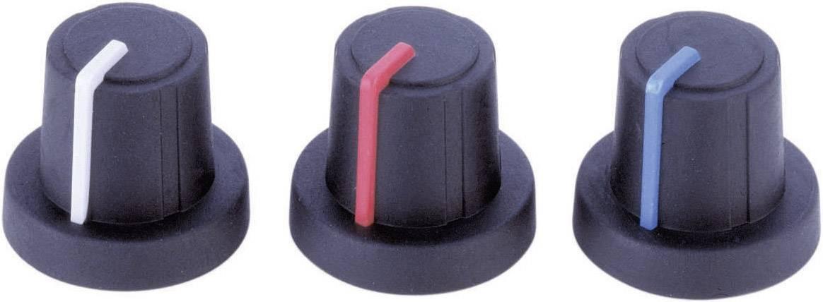 Otočný gombík PB Fastener 3/03/TPN 130006, (Ø x v) 19 mm x 16 mm, čierna, modrá, 1 ks