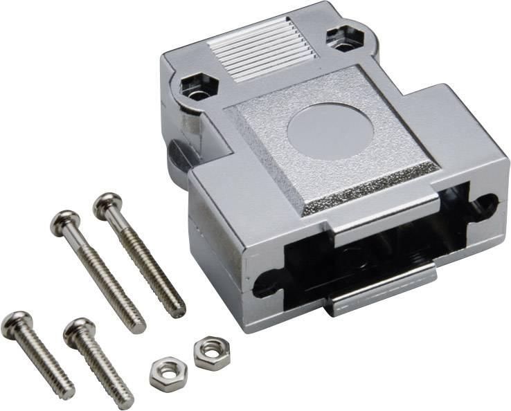 D-SUB púzdro BKL Electronic 10120247 10120247, Počet pinov: 9, plast, pokovaný, 180 °, strieborná, 1 ks