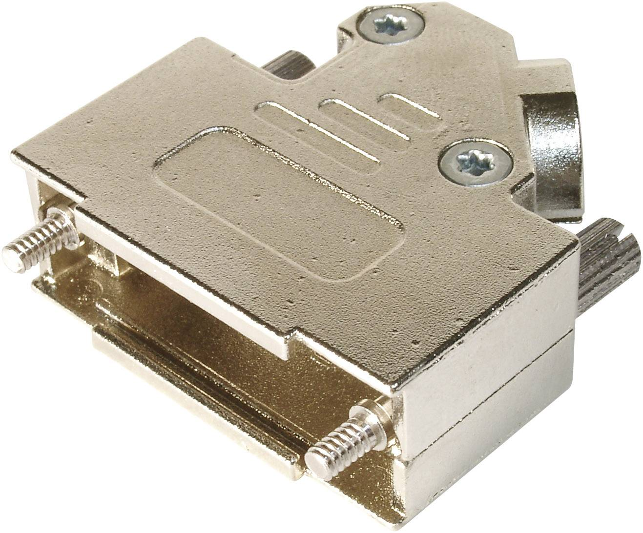 D-SUB púzdro ASSMANN WSW AMET-15 RS-45 AMET-15 RS-45, Počet pinov: 15, kov, 45 °, strieborná, 1 ks
