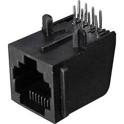 Konektor do DPS ASSMANN WSW 4400 A-20041, 6P6C, zásuvka rovná, černá