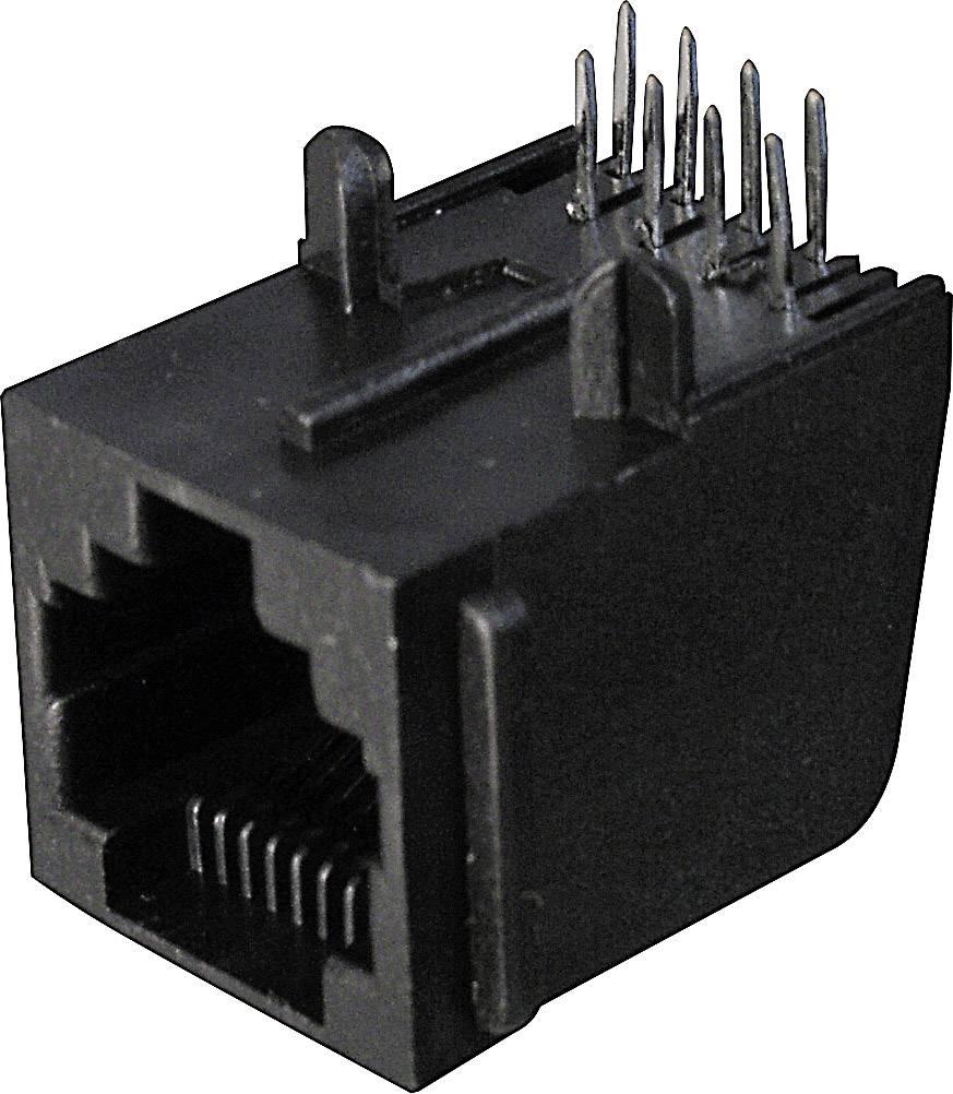 Konektor do DPS ASSMANN WSW A-20040, 4P4C, zásuvka zahnutá, černá