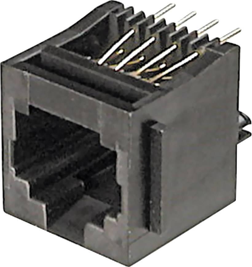 Konektor do DPS ASSMANN WSW A-20140, 4P4C, zásuvka vestavná, černá