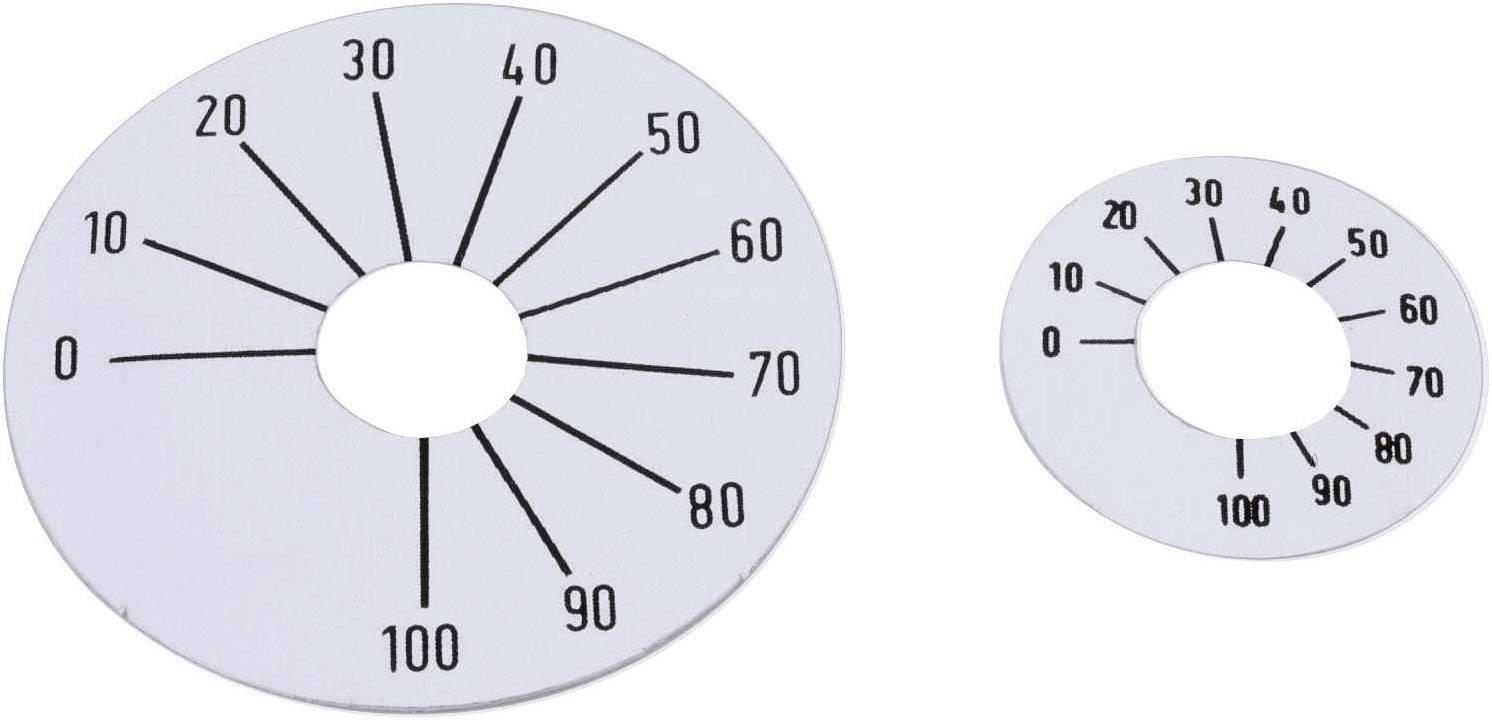 Samolepící stupnice Mentor 8132.2241, rozsah 0-100, 26 mm, stříbrná
