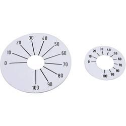 Samolepící stupnice Mentor 8133.2241, rozsah 0-100, 45 mm, stříbrná