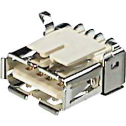 USB zásuvka Typ A s SMD koncovkou ASSMANN WSW A-USB A/SMT, zásuvka vestavná