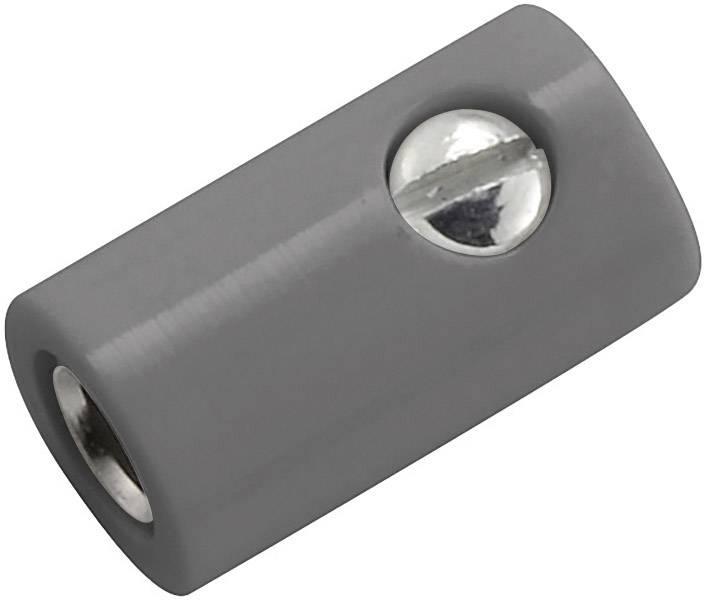 Laboratorní konektor Ø 2,6 mm, zásuvka rovná, šedá