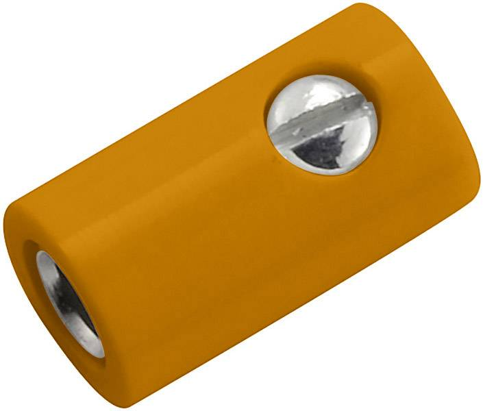 Laboratorní konektor Ø 2,6 mm, zásuvka rovná, oranžová