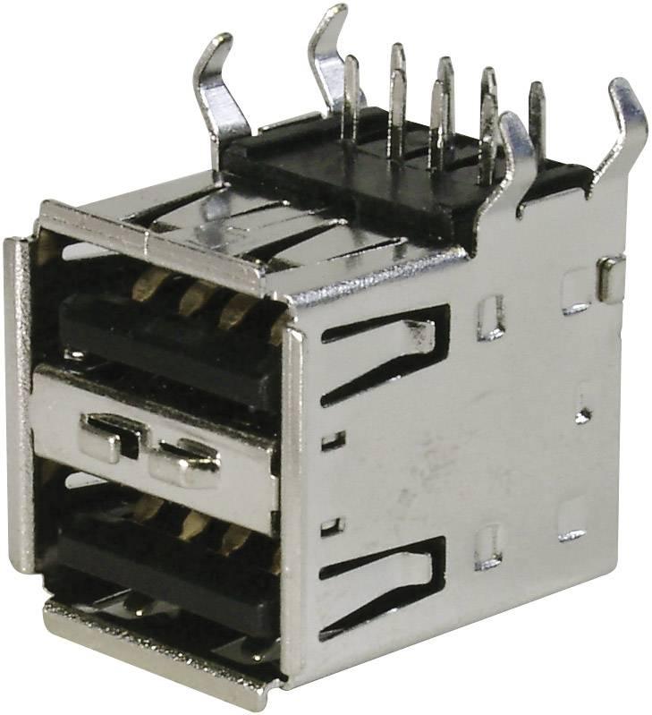 USB 2.0 zásuvka, vstavateľná TRU COMPONENTS TC-A-USB A-2P-203 1586531, 1 ks