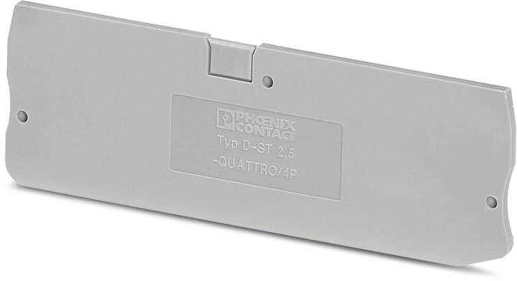 End cover D-ST 2,5-QUATTRO/4P Phoenix Contact D-ST 2,5-QUATTRO/4P 3042175, 50 ks