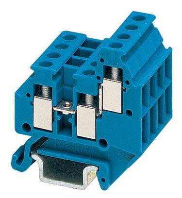 Řadová svorka průchodky Phoenix Contact MT 1,5-TWIN BU 3025532, 50 ks, modrá