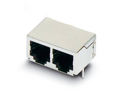 Zabudovateľný zástrčkový konektor pre senzory - aktory Phoenix Contact VS-08-BU-RJ45/LP-2 1688599, 5 ks