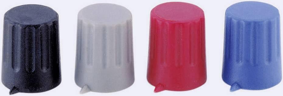 Otočný gombík Strapubox 12/4, (Ø x v) 12 mm x 14 mm, červená, 1 ks