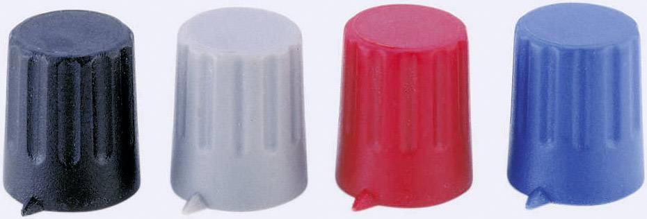 Otočný gombík Strapubox 12/6, (Ø x v) 12 mm x 14 mm, červená, 1 ks