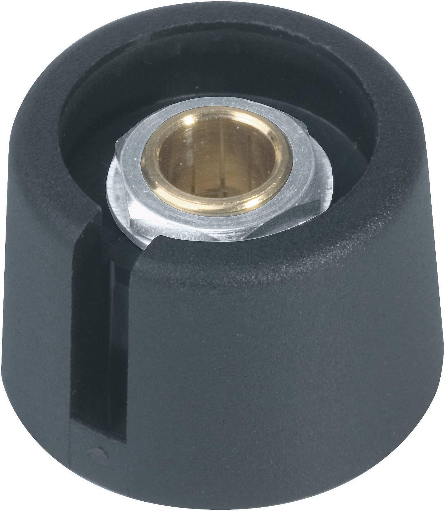Otočný gombík OKW A3016069, (Ø x v) 16 mm x 16 mm, čierna, 1 ks