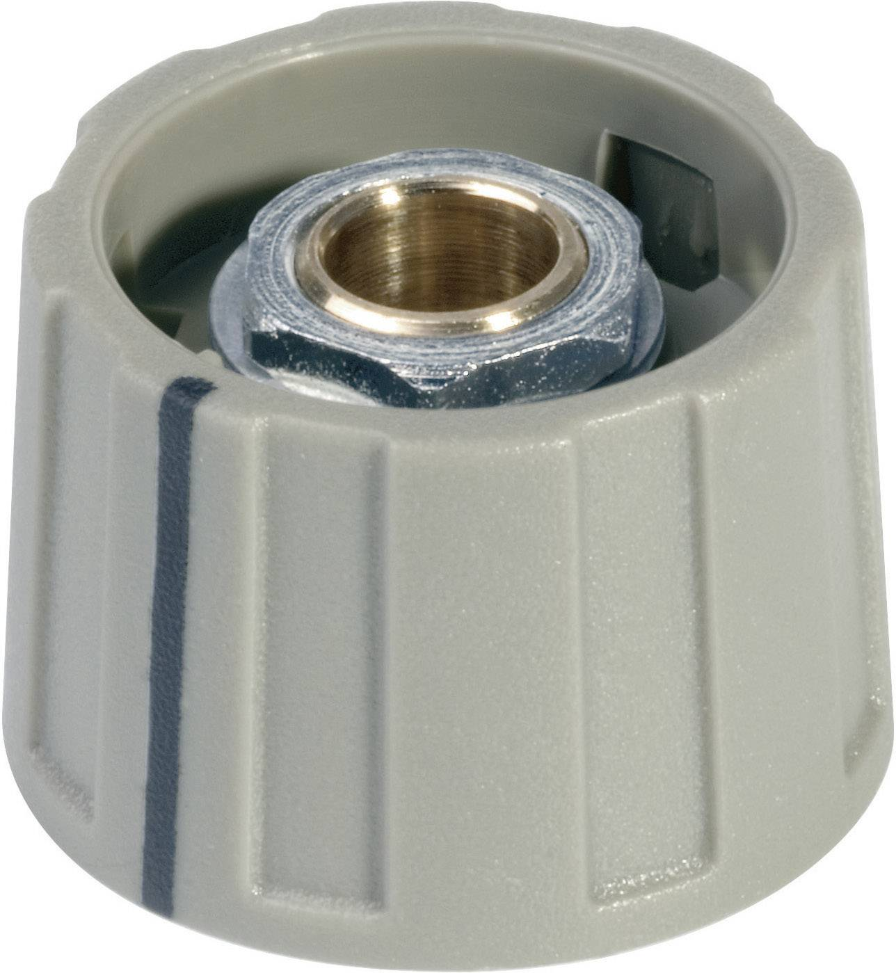 Otočný knoflík bez ukazatele (/O 23 mm) OKW, 6 mm, šedá