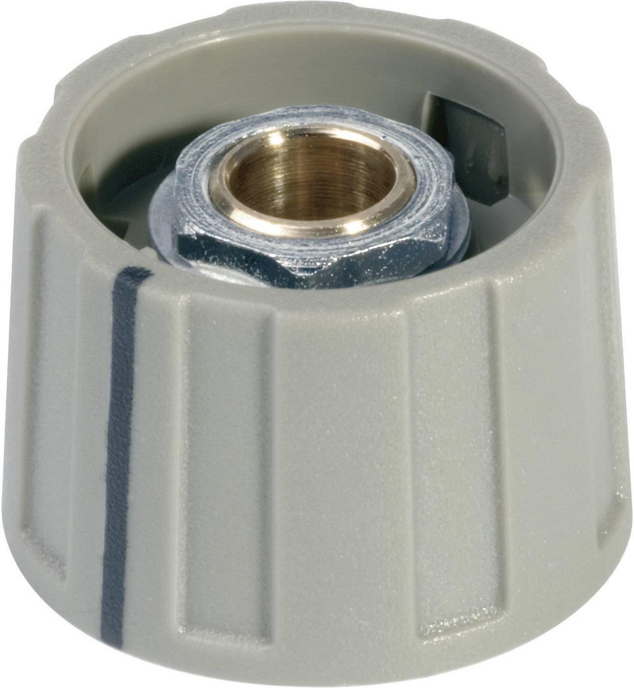 Otočný knoflík s ukazatelem (/O 23 mm) OKW, 6 mm, šedá